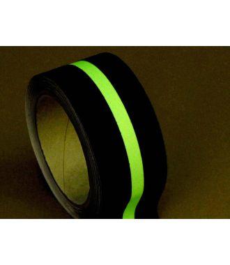 Cinta antideslizante (negra) con raya fotoluminiscente