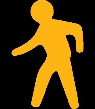 Pictograma peatonal para señalizar suelos, antideslizante