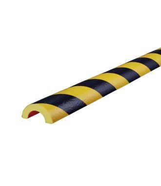 Perfil protector Knuffi para tuberías - amarillo y negro - 5 metro