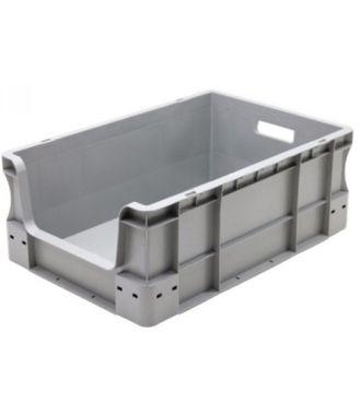 Contenedor para pared recta Eurobox 400x600x230 mm con frontal abierto