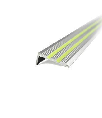 Cantoneras de aluminio fluorescentes para escaleras