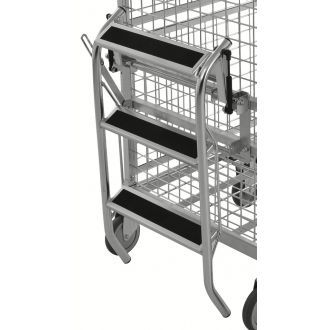 Escalera plegable Kongamek para carro con estantes KM9000