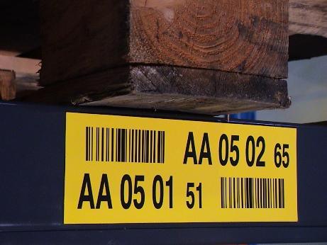Dígito de control en etiqueta de ubicación.